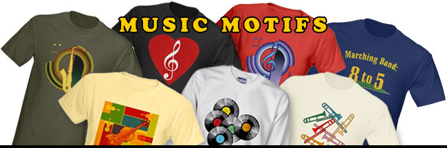 Gifts for musicians, t-shirts, sweatshirts, mugs, tiles, totes and more