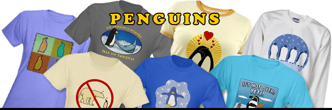 Penguin t-shirts, mugs, tiles, totes and other penguin gifts